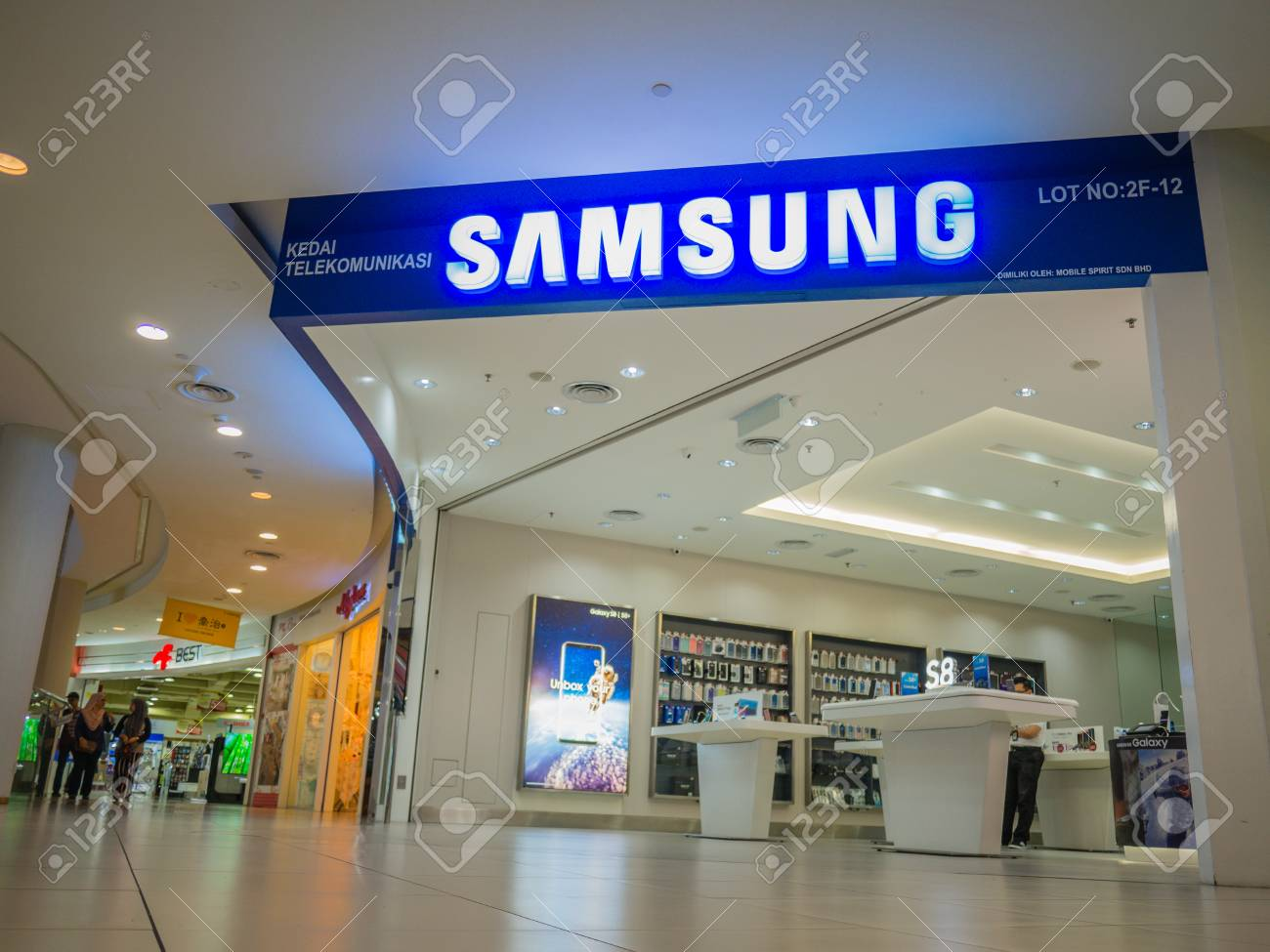 Penang, Malaysia - Aug 19, 2017: Samsung store in Shopping mall