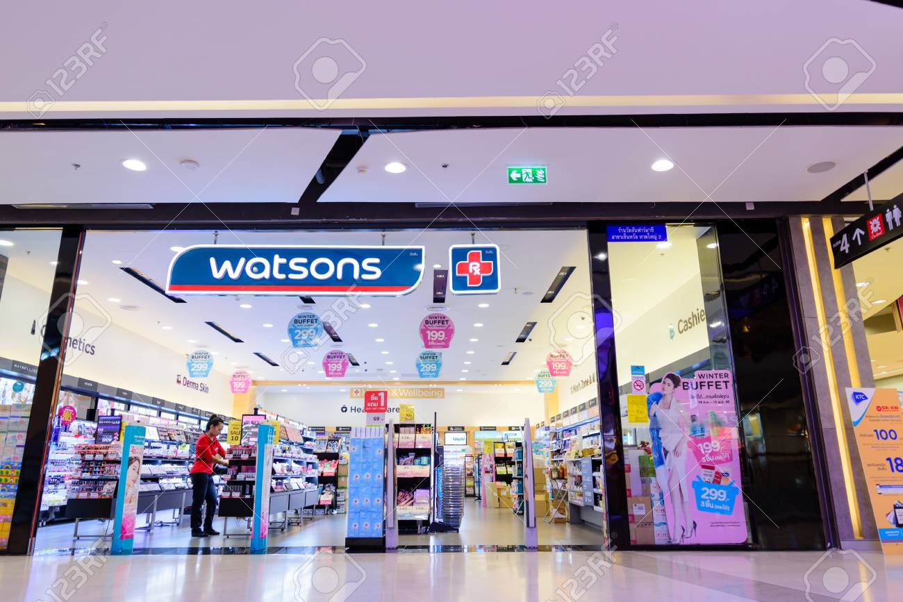 Songkhla, Thailand - Nov 4, 2017: Watsons Personal Care Stores,