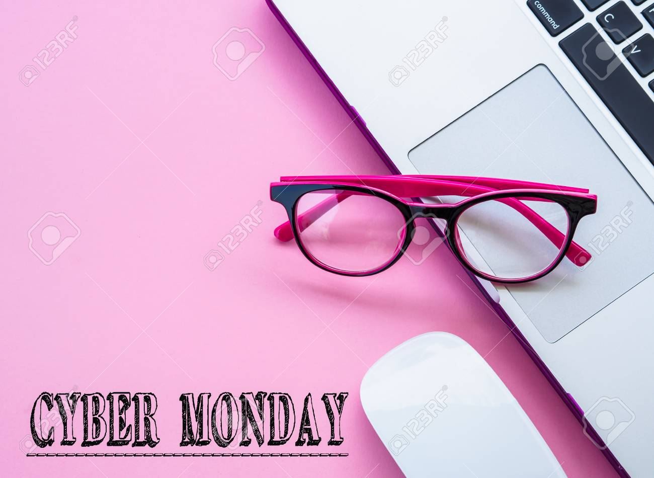 e066fc50a0 Cyber Monday Words With Pink Glasses