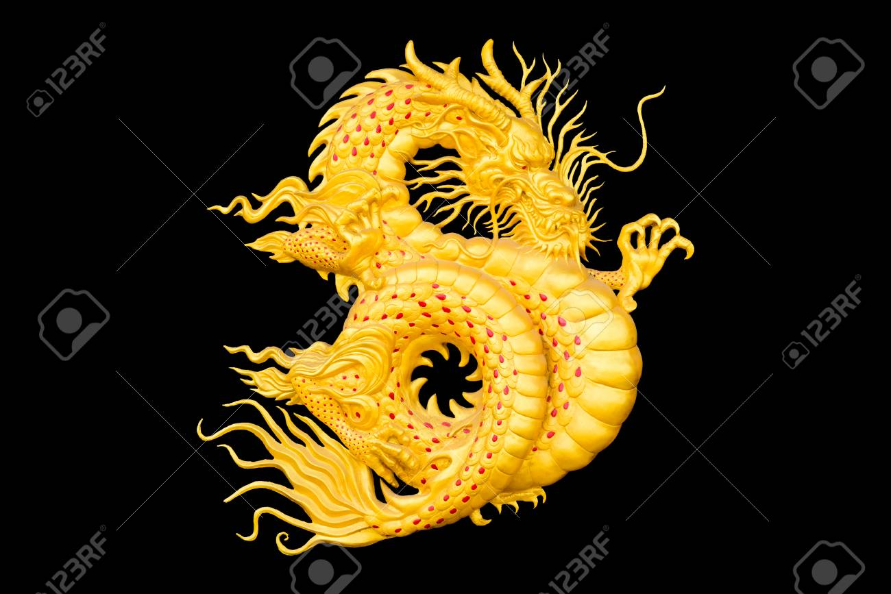 chinese new year golden dragon