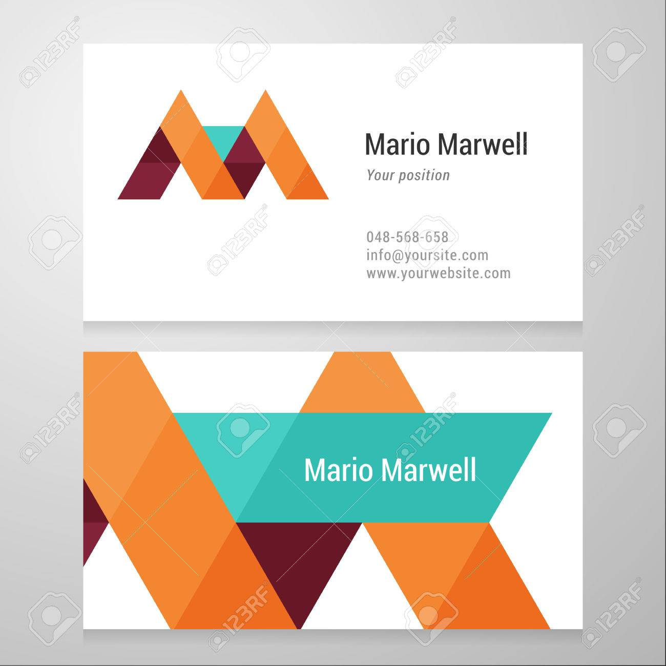 Modern letter m business card template vector design layered imagens modern letter m business card template vector design layered editable reheart Images