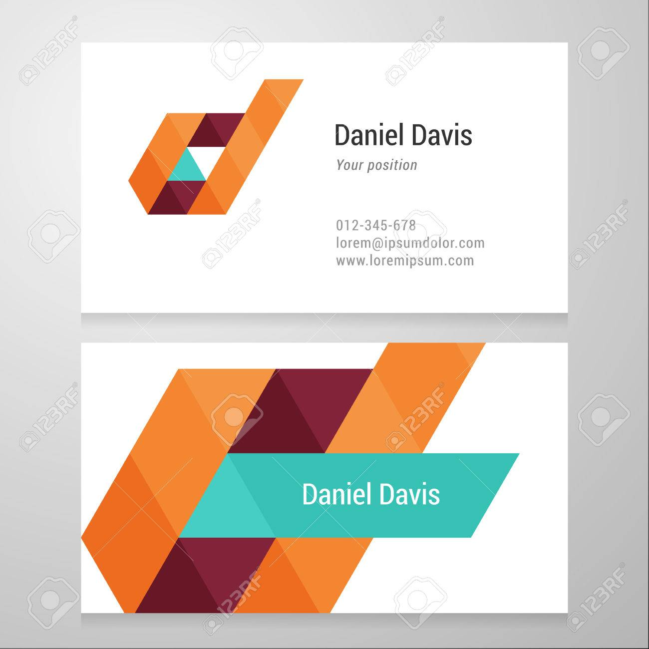 Modern letter d business card template vector design layered modern letter d business card template vector design layered editable stock vector reheart Choice Image