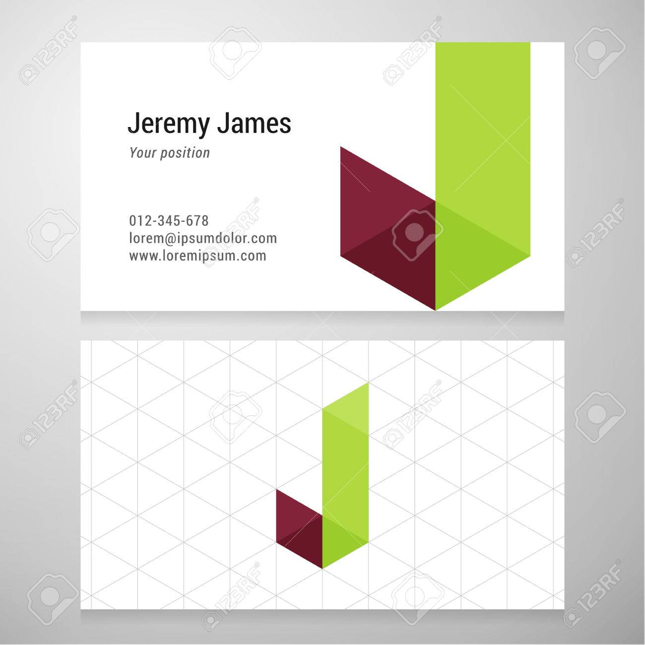 Modern letter j origami business card template vector design modern letter j origami business card template vector design layered editable stock vector jeuxipadfo Gallery