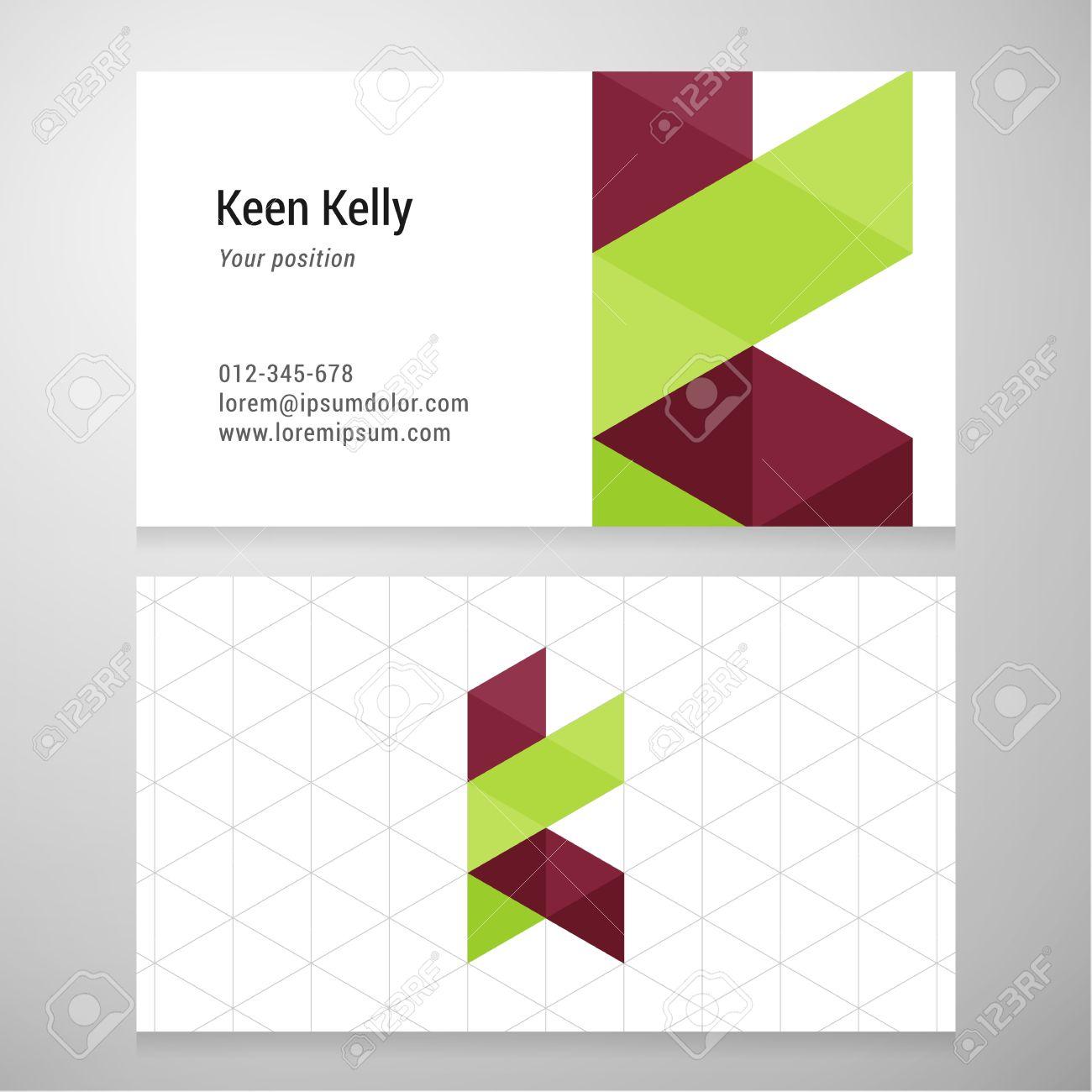 Modern Letter K Origami Business Card Template. Vector Design ...