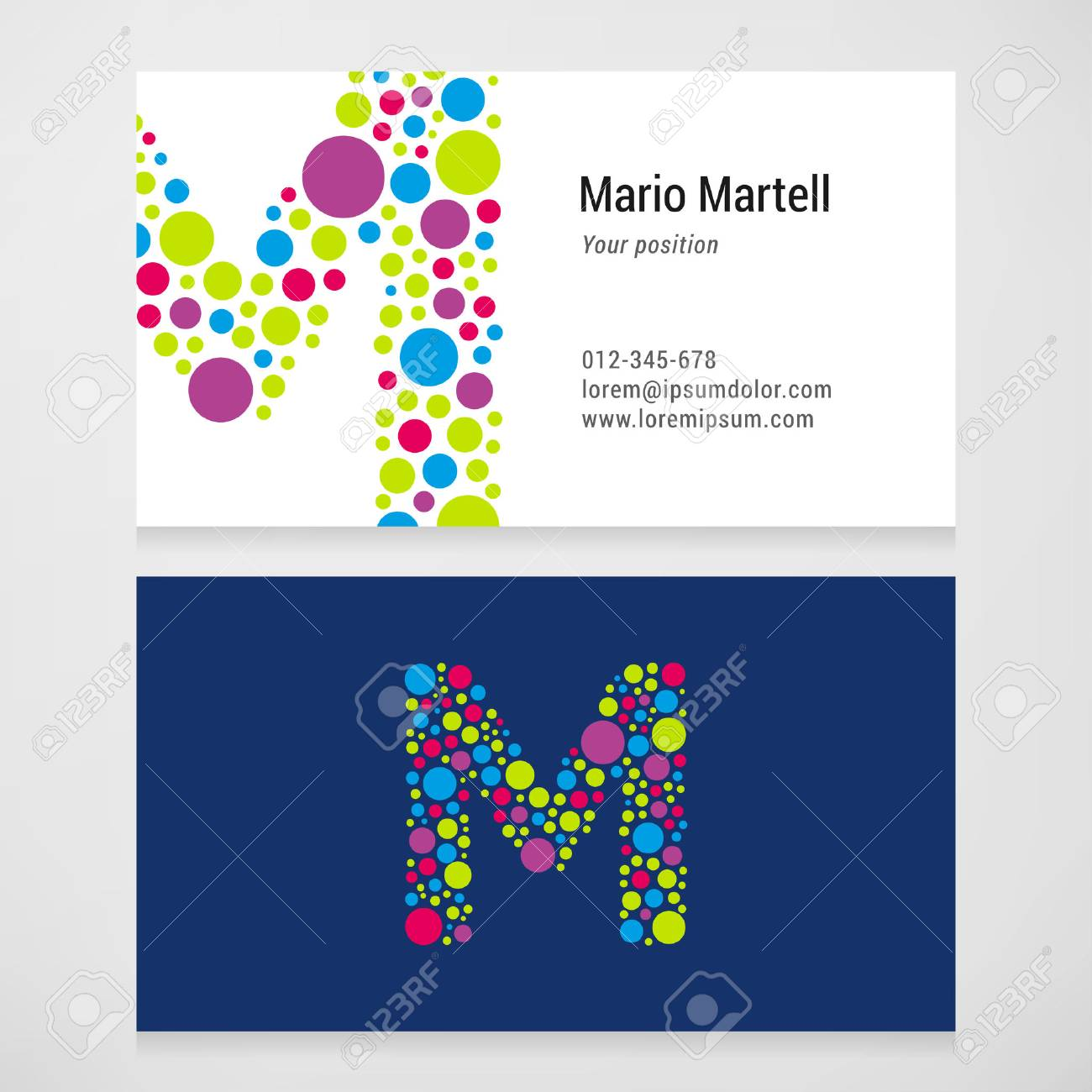 Modern letter m circle colorful business card template royalty free modern letter m circle colorful business card template stock vector 40869195 accmission Gallery