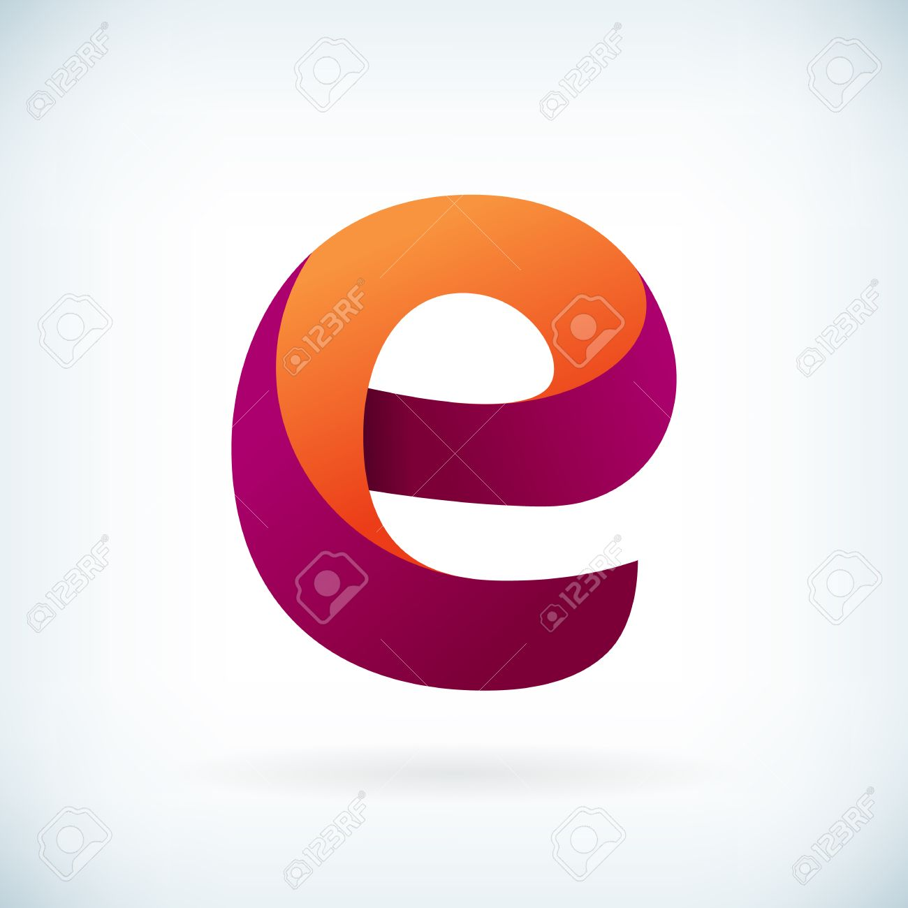 modern twisted letter e icon design element template royalty free