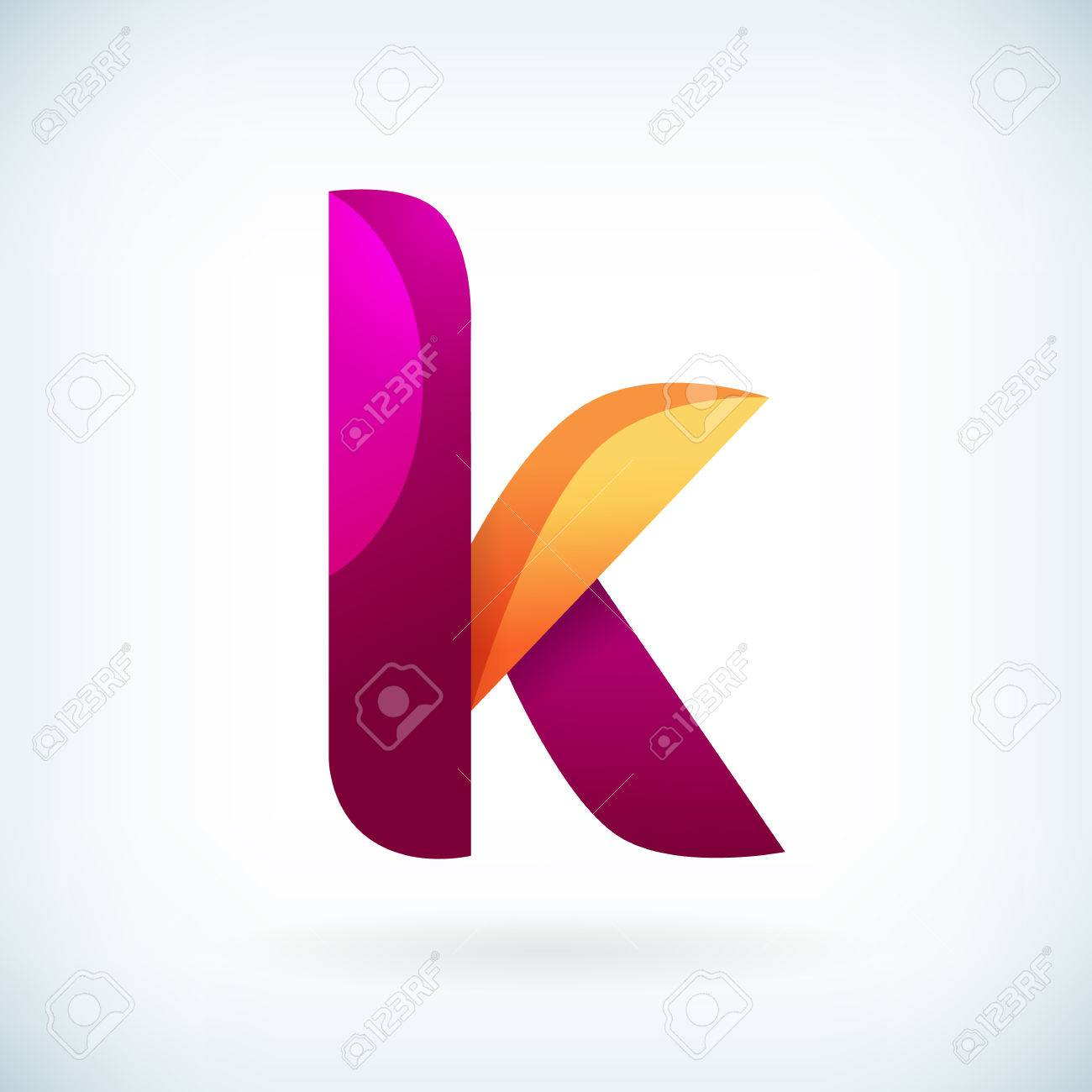 Modern Twisted Letter K Icon Design Element Template Royalty Free ...