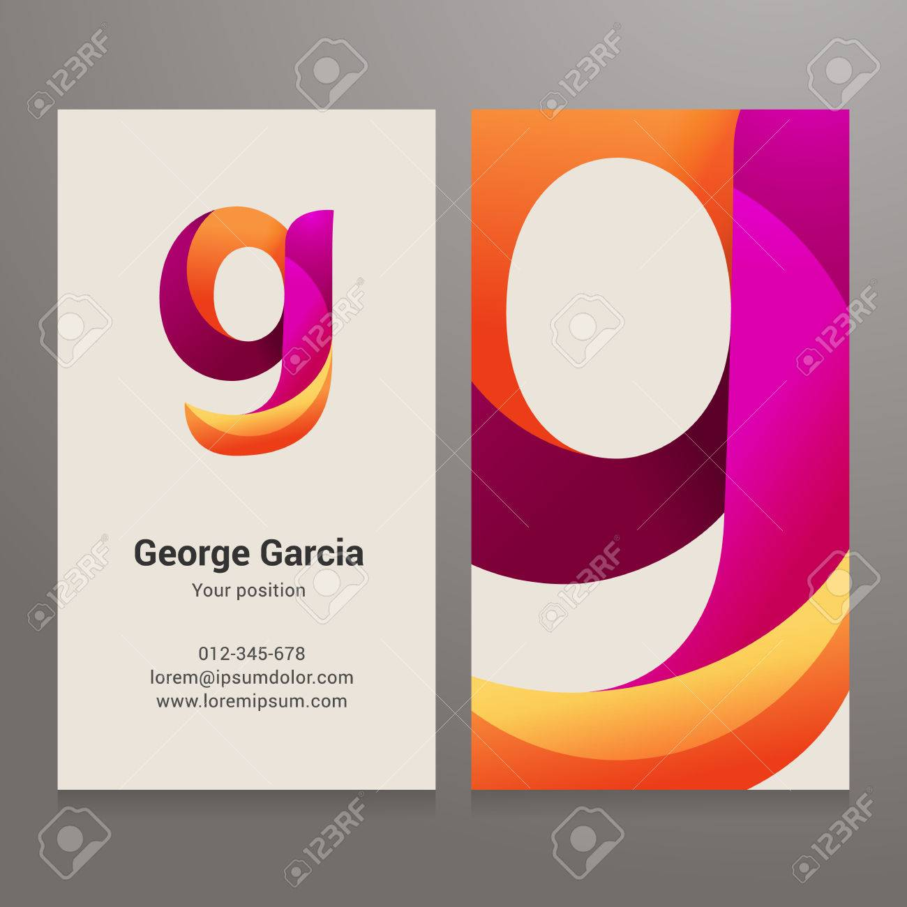 Modern letter g twisted colorful business card template vector modern letter g twisted colorful business card template vector design layered editable colourmoves