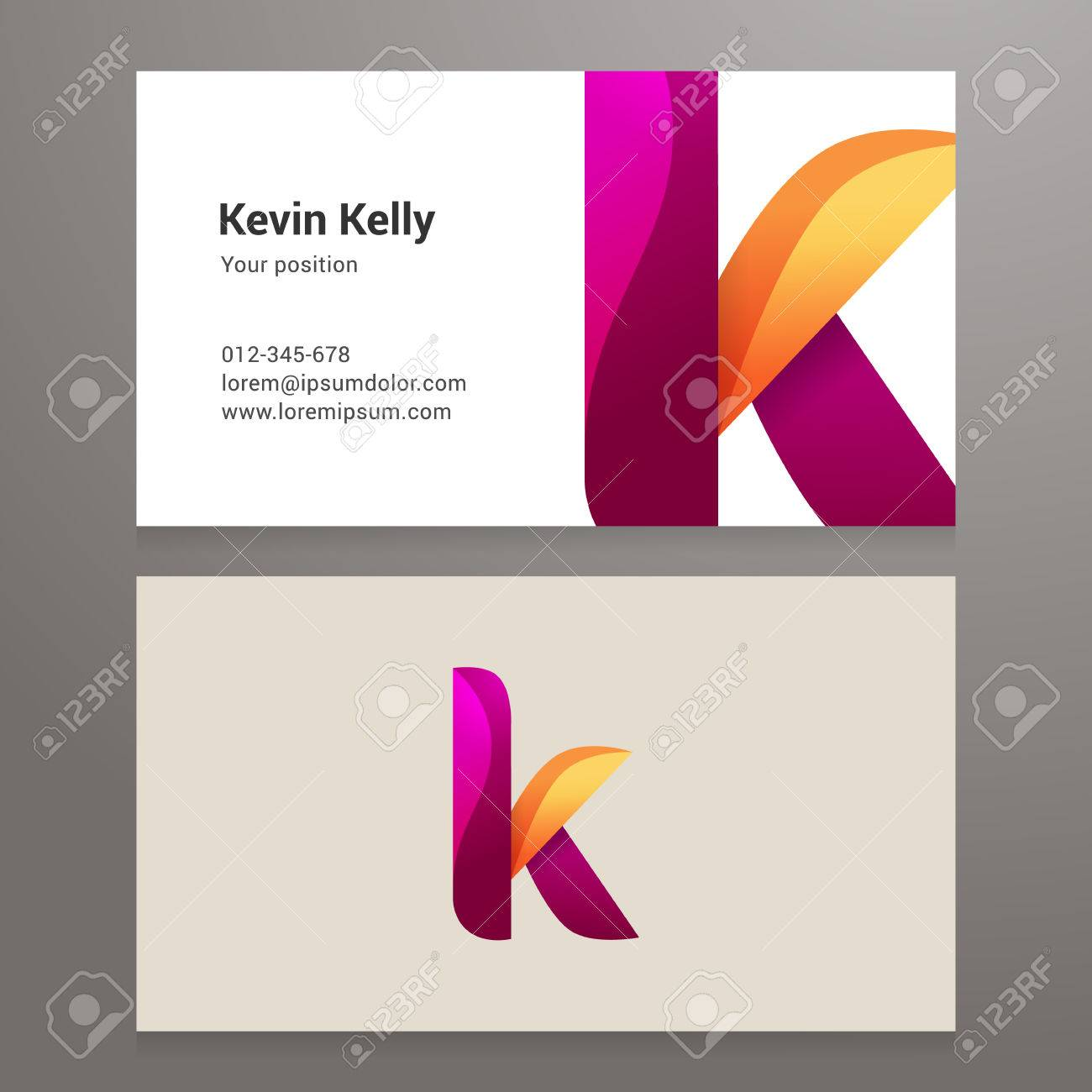 Modern Letter K Business Card Template Vector Design Layered - Editable business card templates free