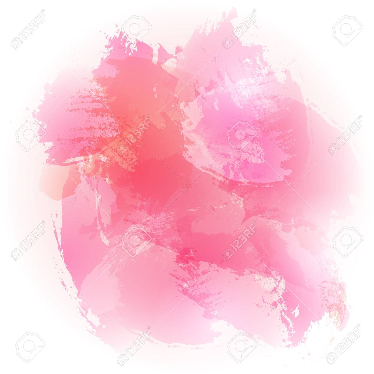 abstract watercolor pink brushed vector background design stock vector 48325021