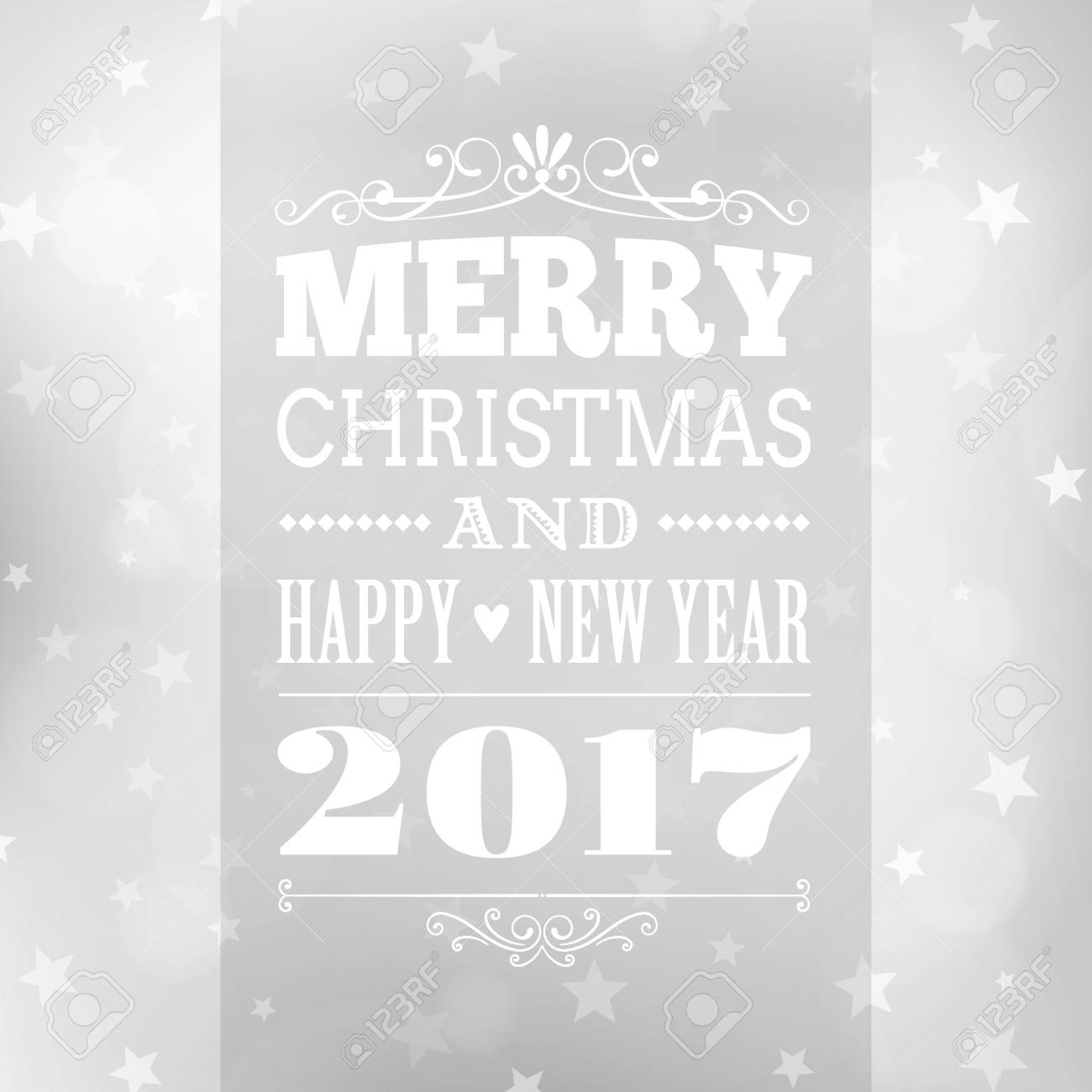 Merry Christmas And Happy New Year Postcard Background. Vector ...