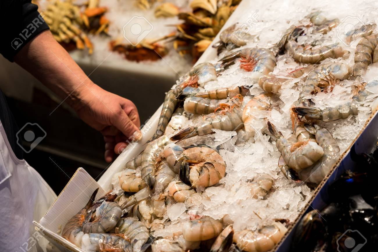 Seafood On Sale At Pike Market In ...
