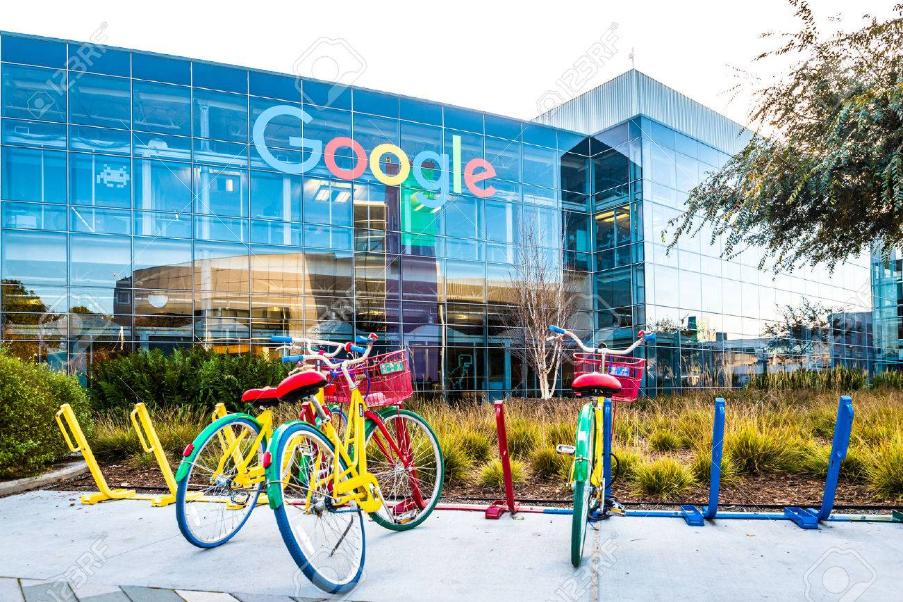 Bikes At Googleplex - Google Headquarters Stock Photo, Picture And Royalty  Free Image. Image 77282612.