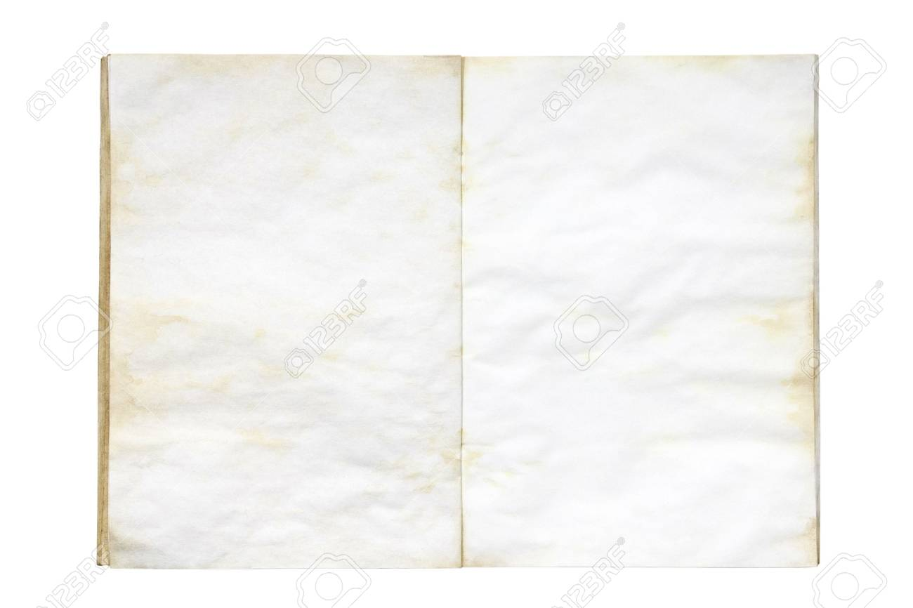 open old and dirty blank exercise book Stock Photo - 3945836