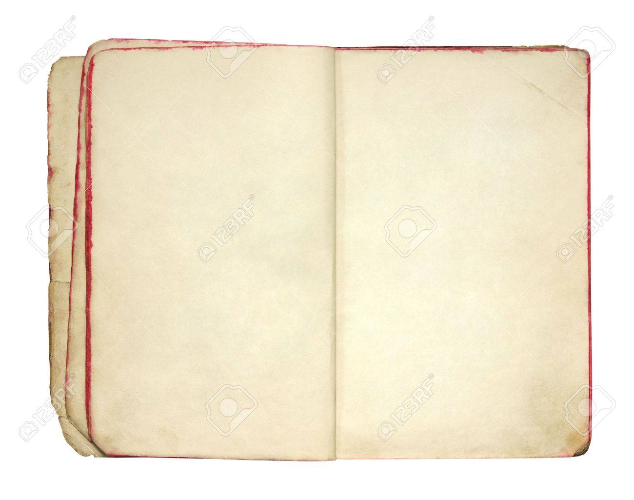 Open old blank book Stock Photo - 6755417