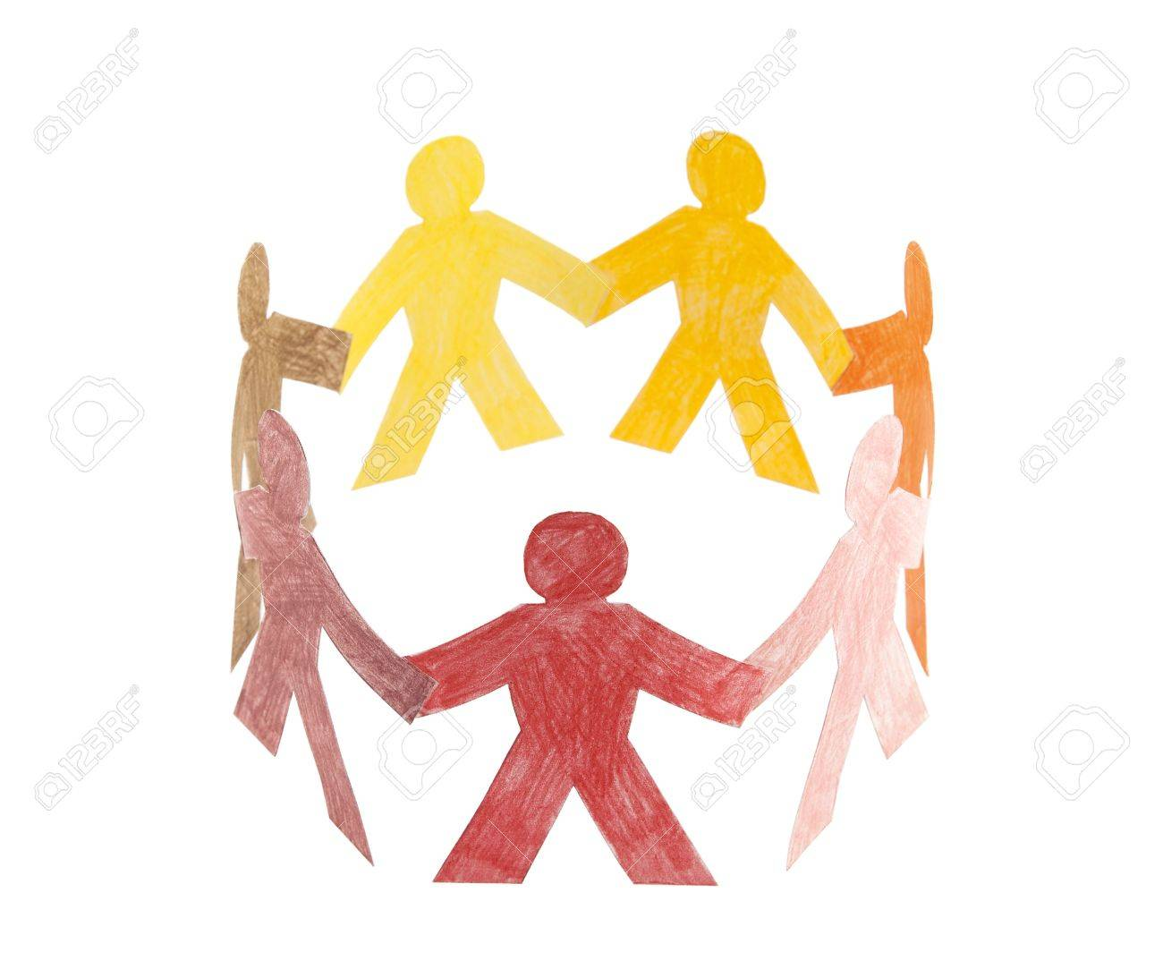 Circle of colorful people Stock Photo - 6755414