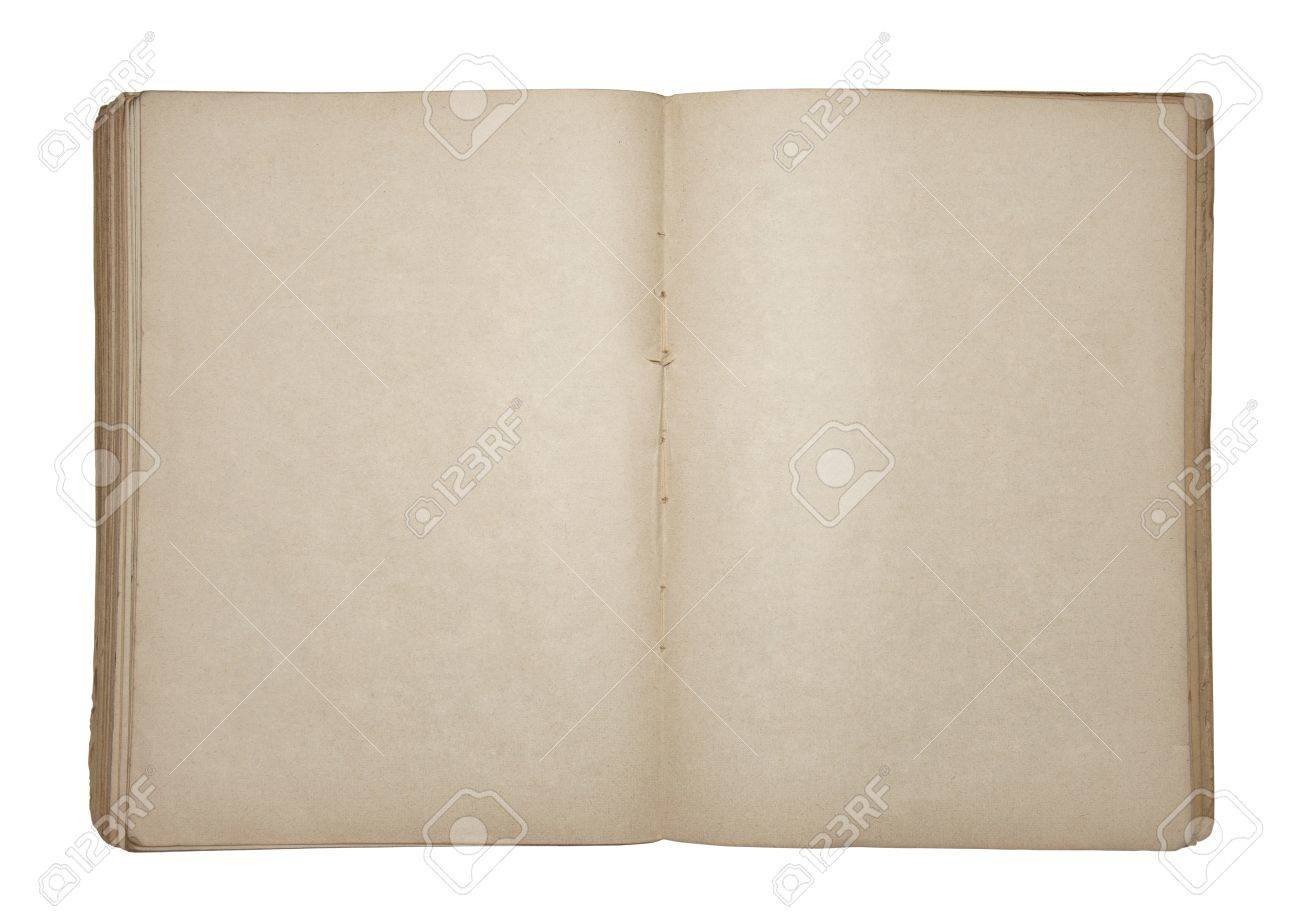 Open old blank book Stock Photo - 16259541