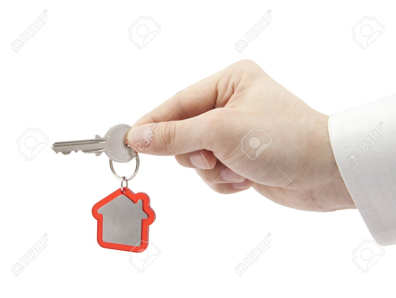 House key in hand Stock Photo - 16259343