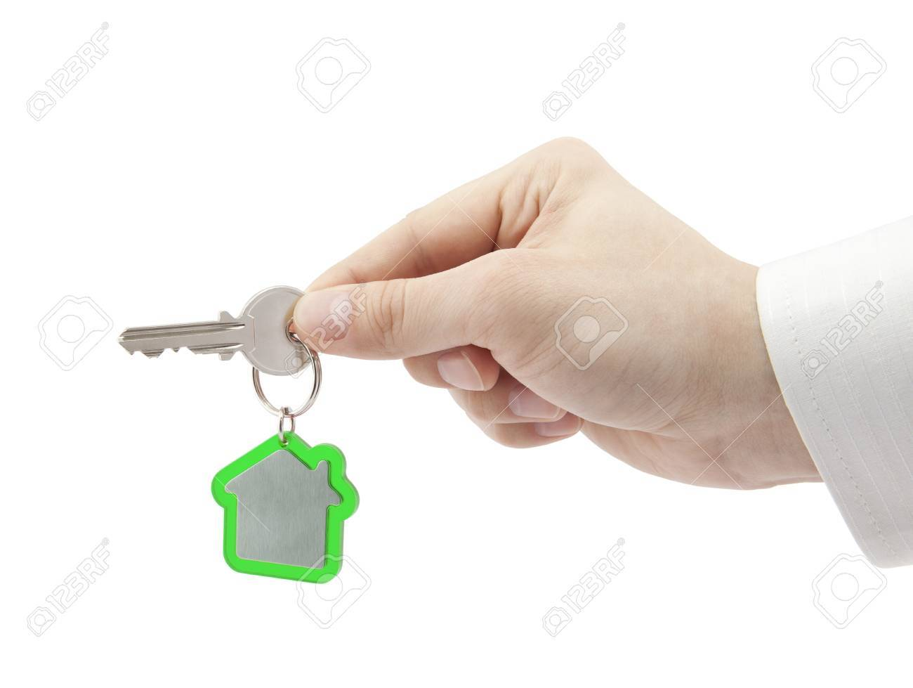 House key in hand Stock Photo - 16259326