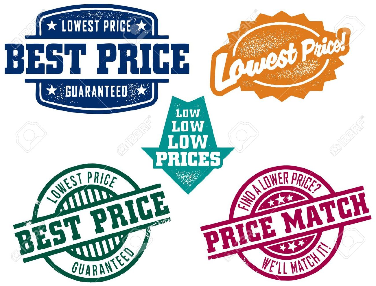 Low Price Stamps Stock Vector - 10436257