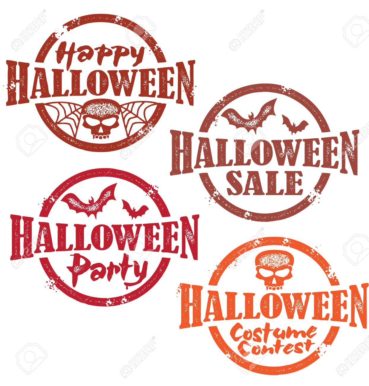 Halloween Stamps Stock Vector - 10881768