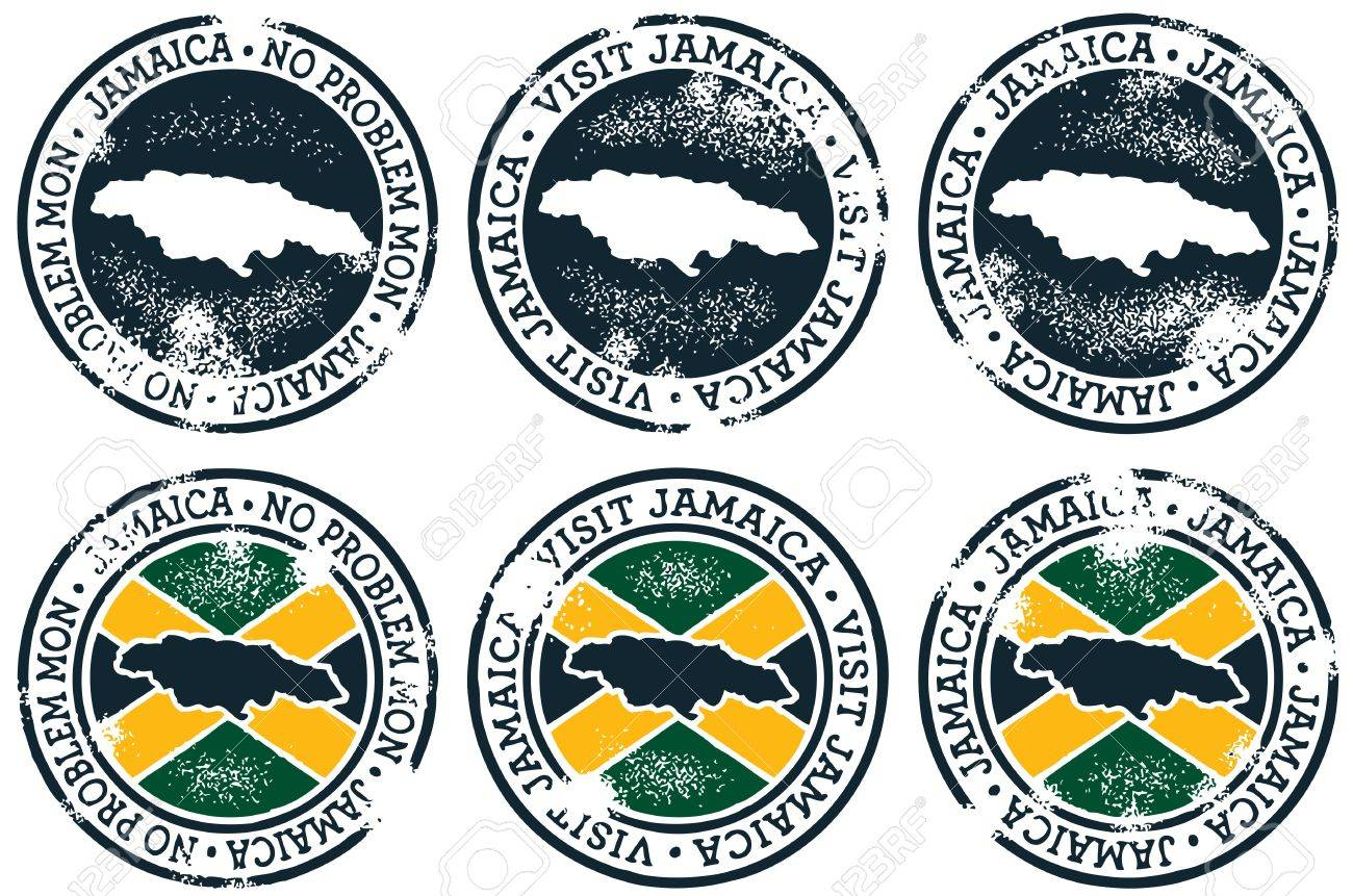 Vintage Style Jamaica Stamps Stock Vector - 11376430