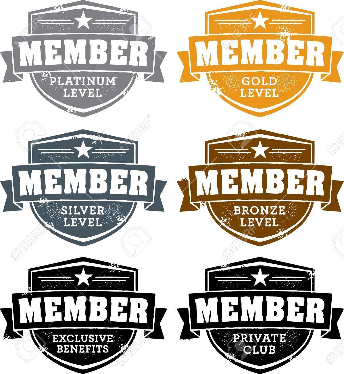 Membership Badges Stock Vector - 12495644