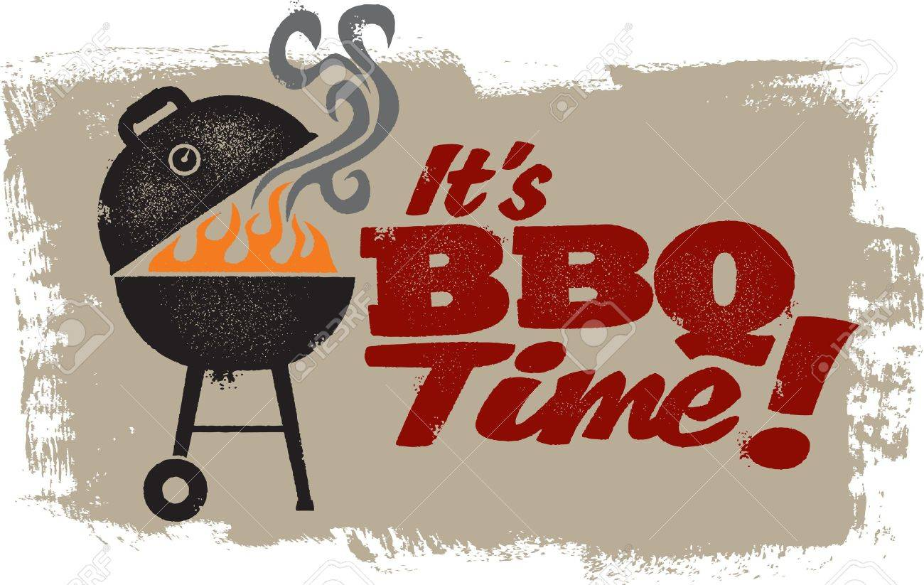It s BBQ Grilling Time Stock Vector - 12495646