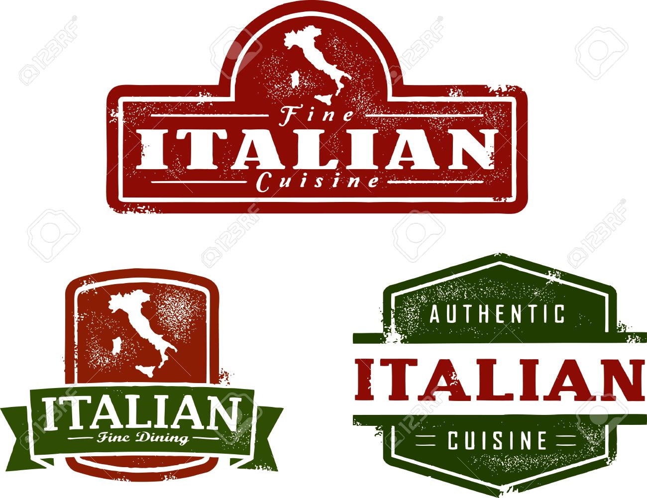 For restaurant pictures graphics illustrations clipart photos - Vintage Italian Restaurant Graphics Stock Vector 12495642