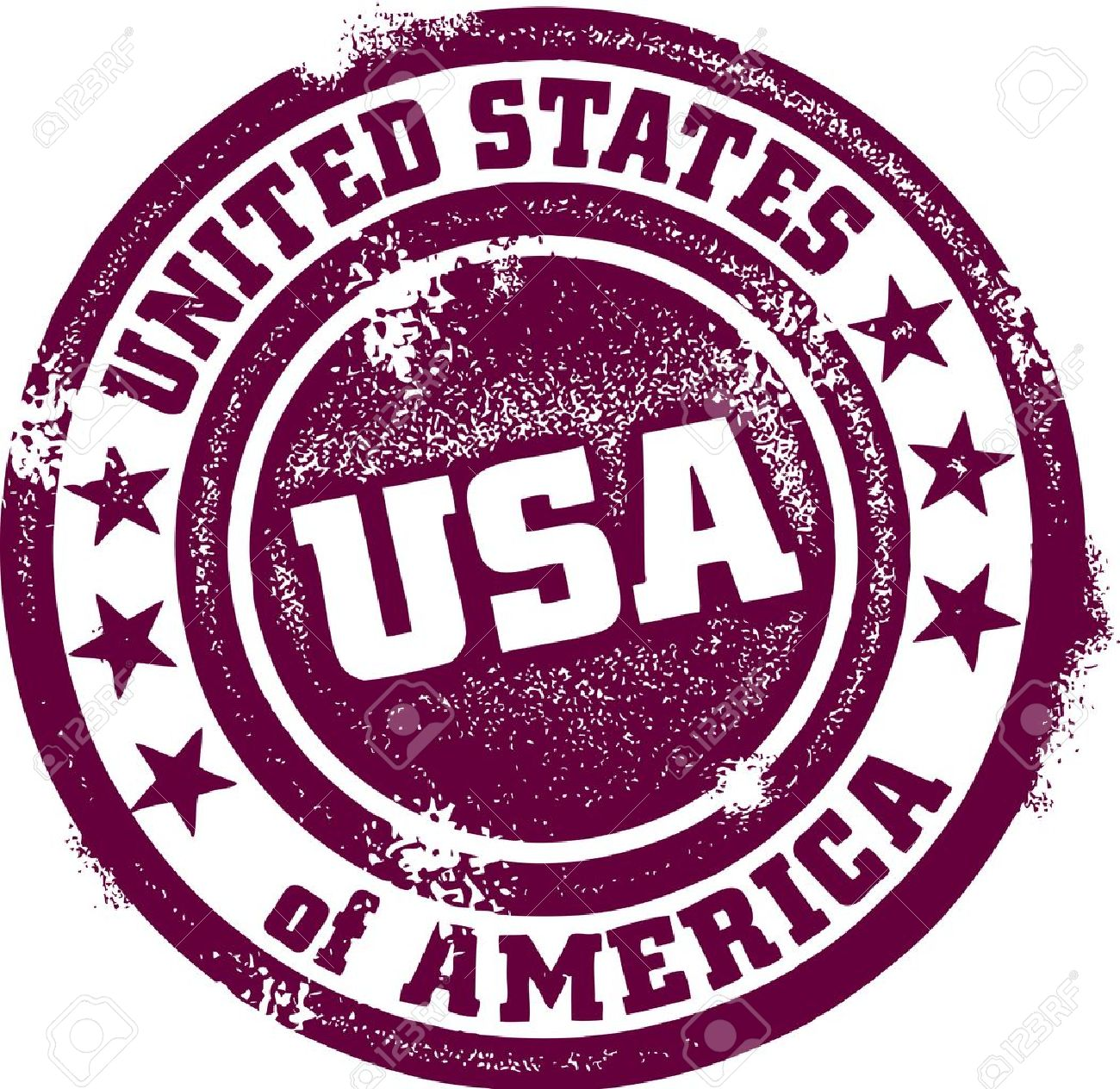 Vintage United States Of America USA Stamp Stock Vector