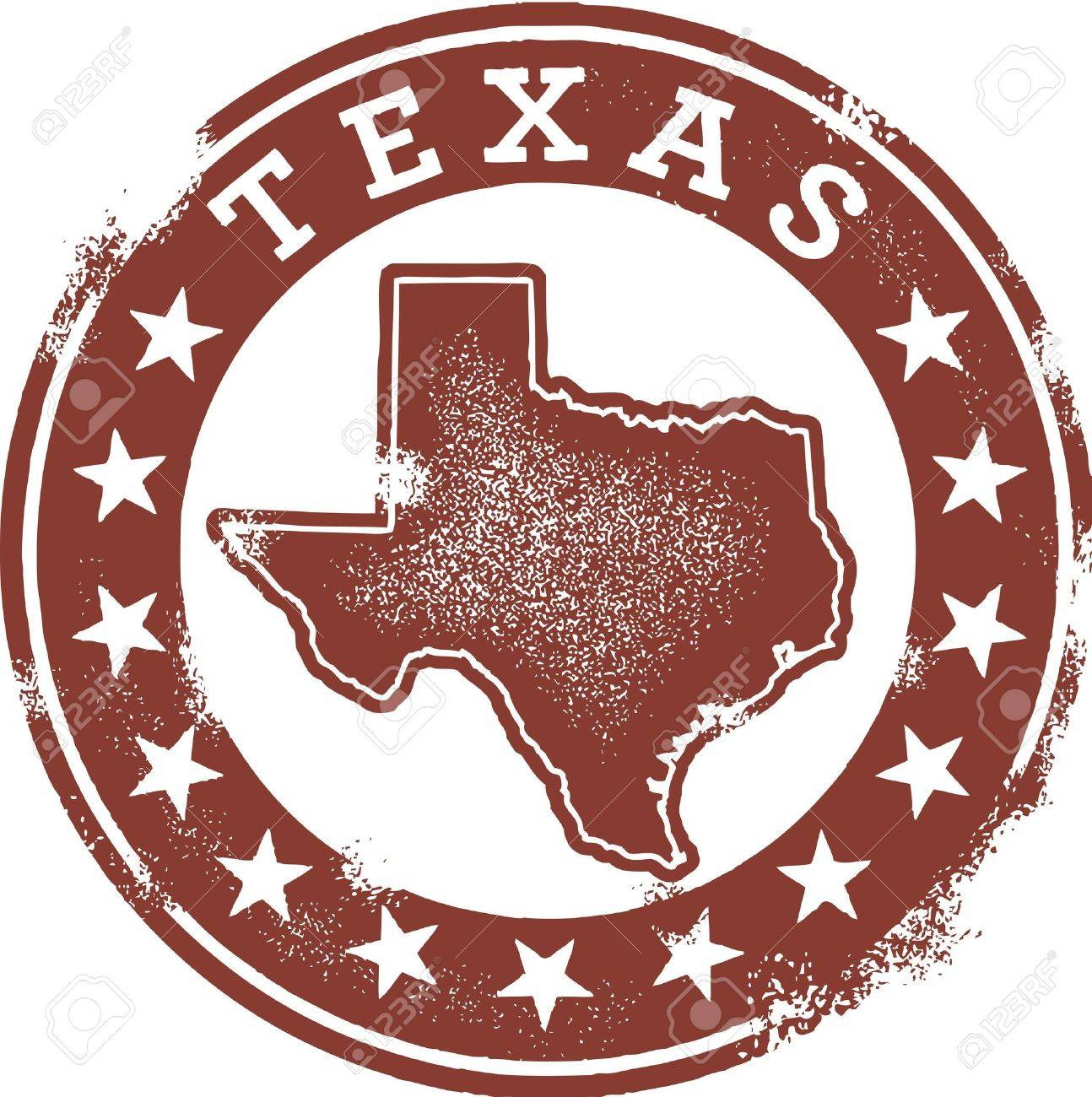 Distressed Vintage Texas State Stamp Stock Vector - 14404800