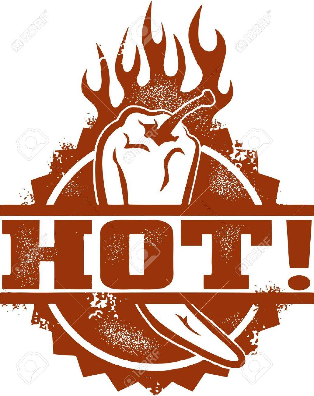 Hot Chili Pepper Stock Vector - 14651237