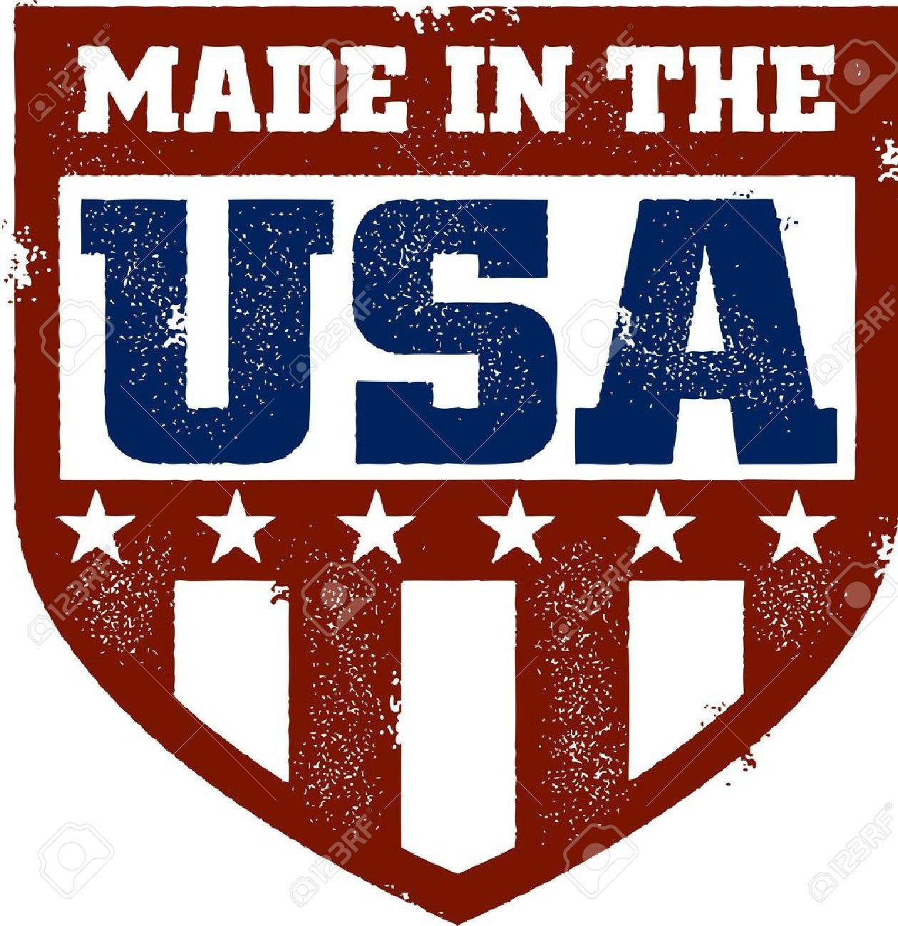 Vintage Made in USA Crest Stock Vector - 14651233