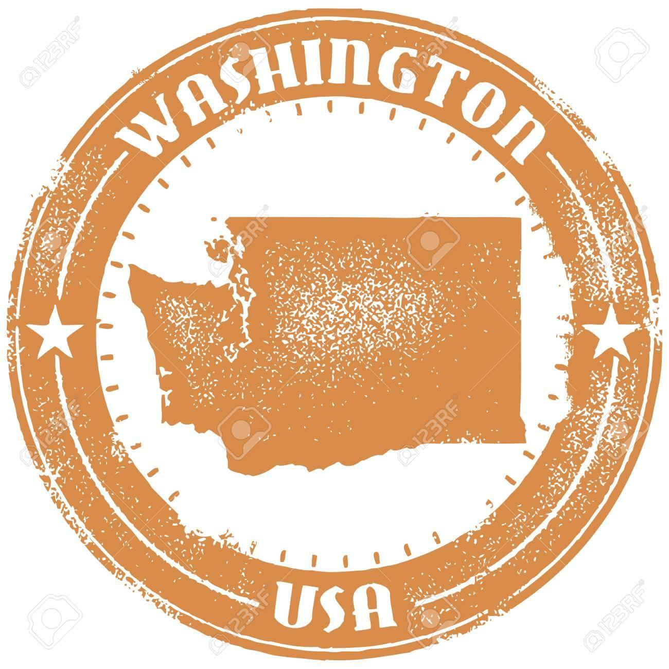 Washington USA State Stamp Stock Vector - 18284549