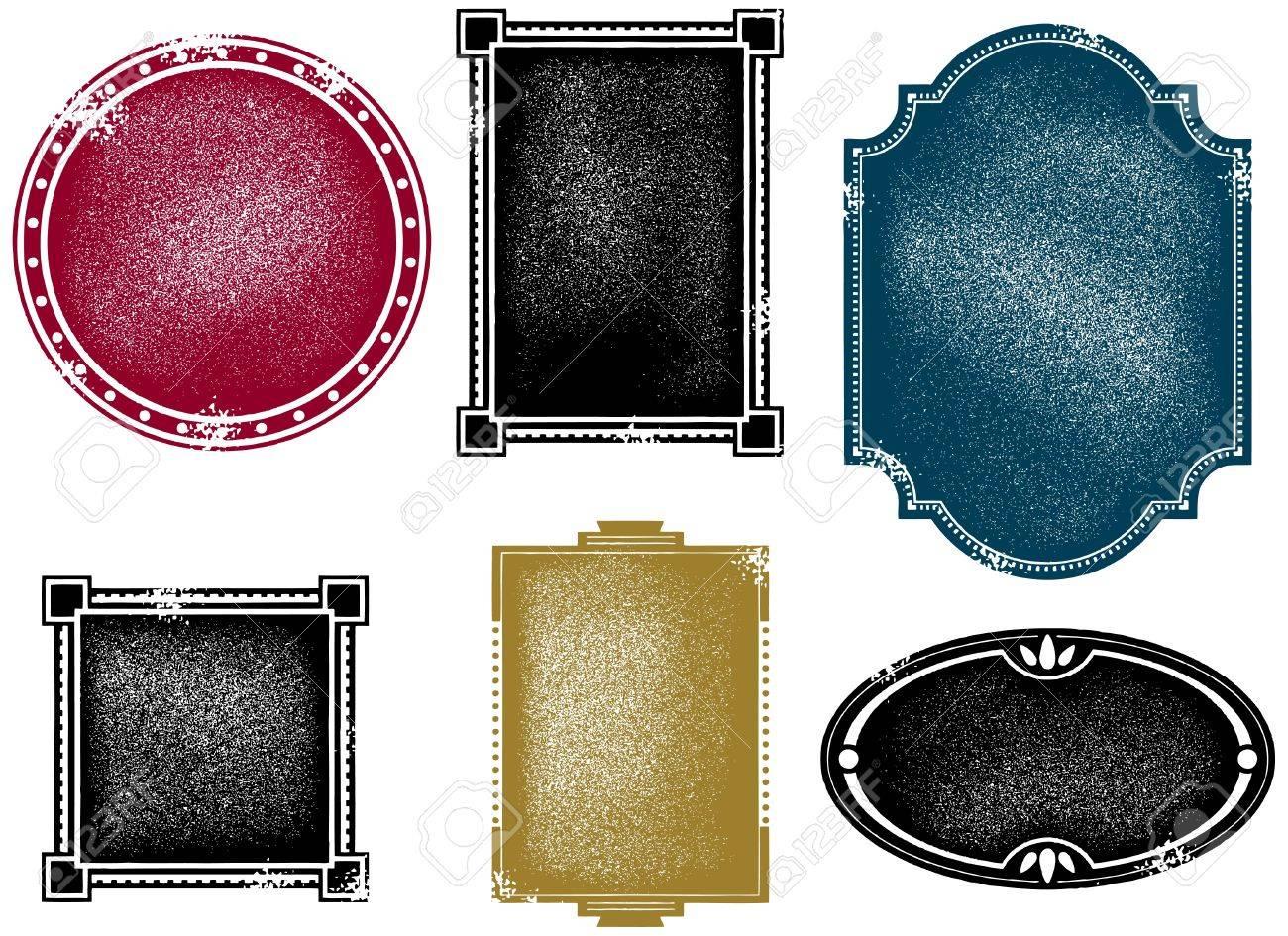 vector vintage distressed frame designs