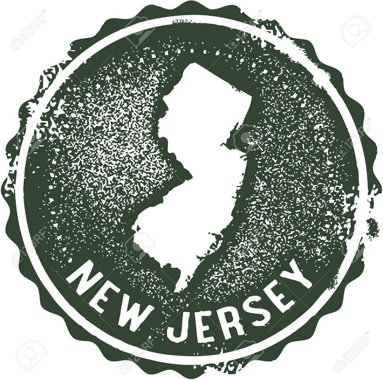 Vintage New Jersey USA State Stamp Royalty Free Cliparts Vectors
