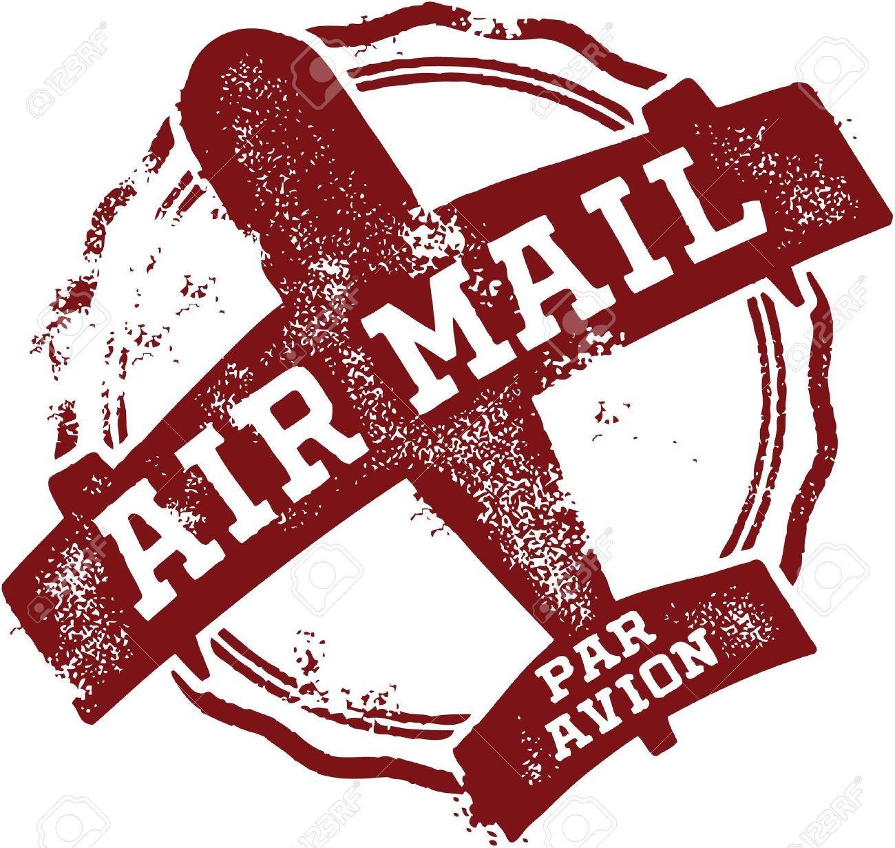 Vintage Air Mail Postmark - 19600970