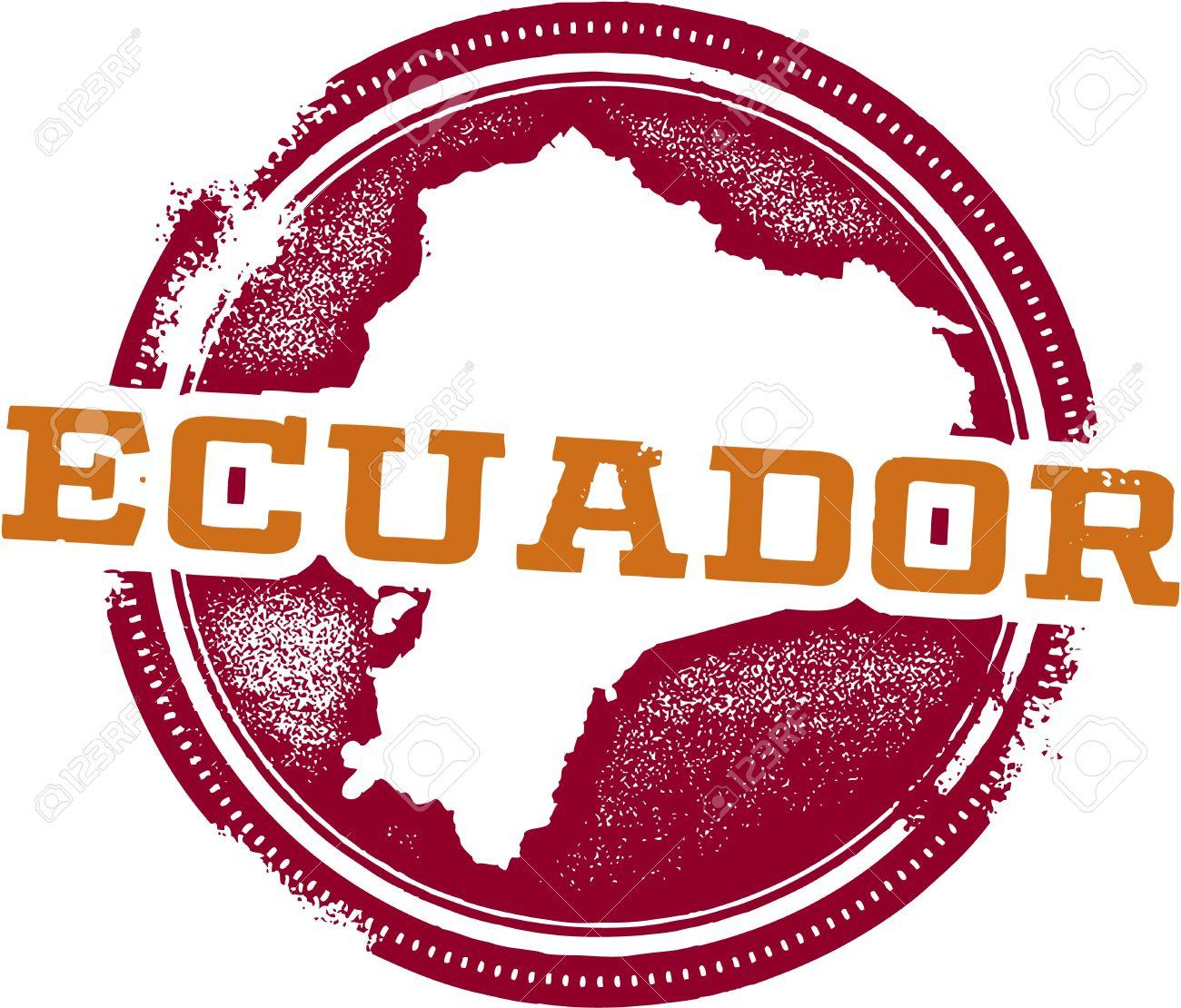 Ecuador South America Travel Stamp Stock Vector - 20341444