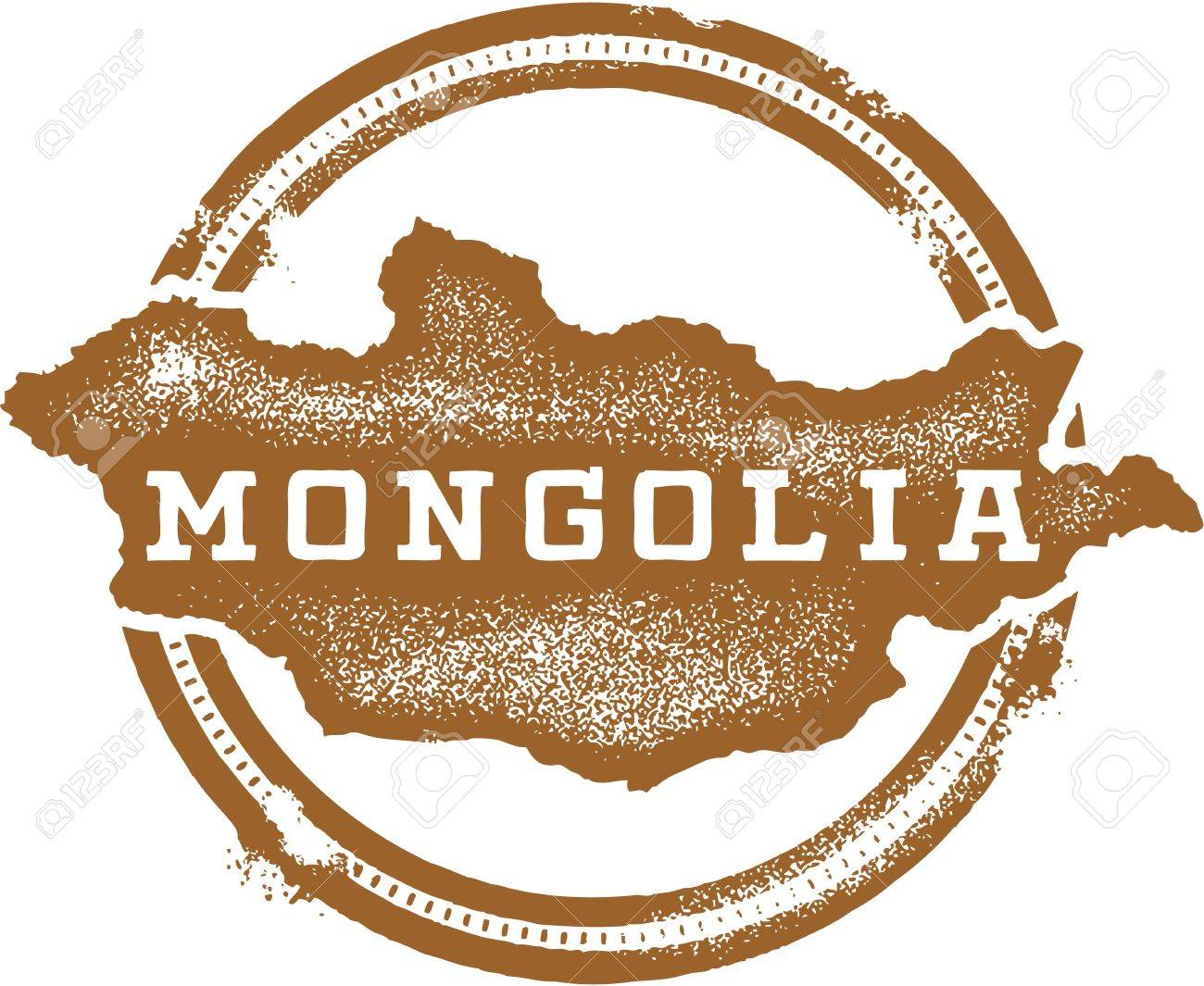 Mongolia Asia Country Stamp Stock Vector - 20341478