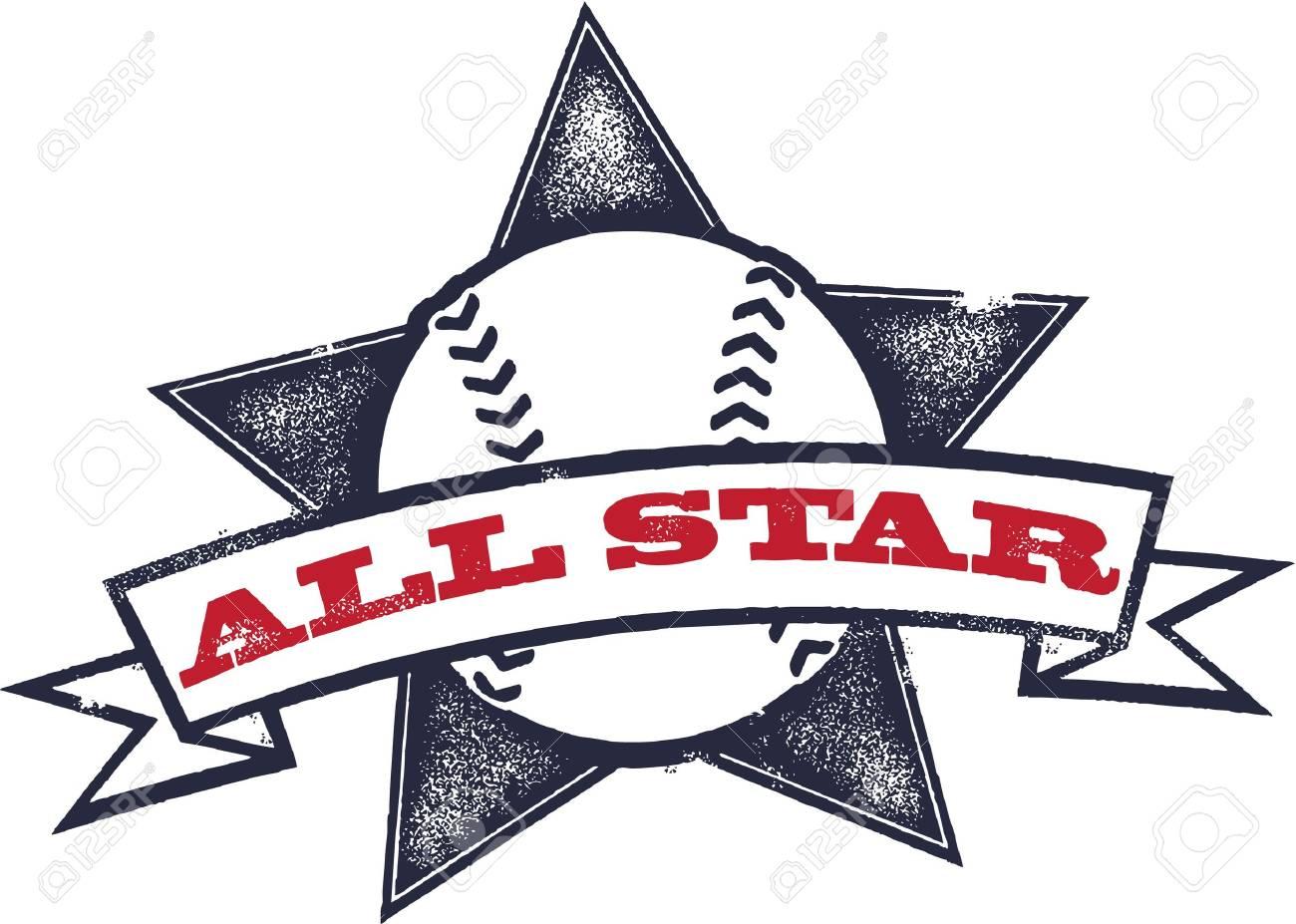 baseball or softball all star royalty free cliparts vectors and rh 123rf com all star veterinary clinic westfield in all star veterinary clinic