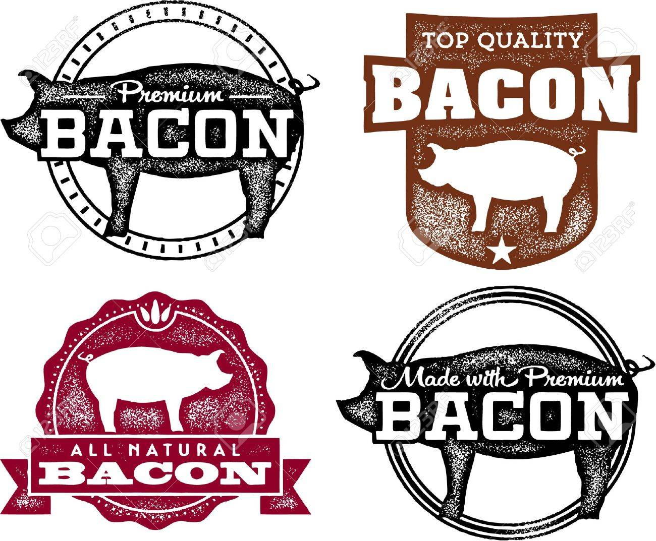 vintage bacon product labels royalty free cliparts vectors and rh 123rf com vector set vintage labels vector vintage labels clipart