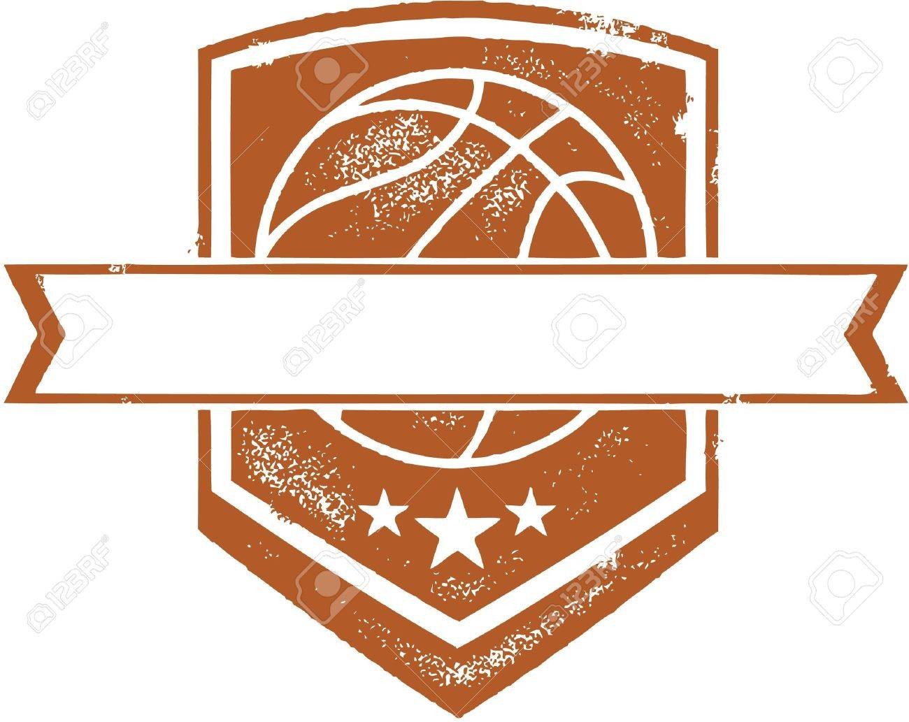 Basketball Team Crest Stock Vector - 20660179