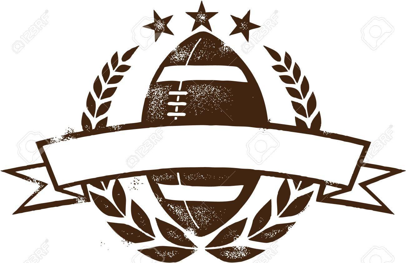 Grunge American Football Wreath Design - 20895472