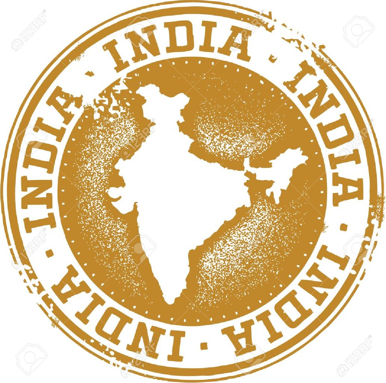 India Country Rubber Stamp Stock Vector - 21386273