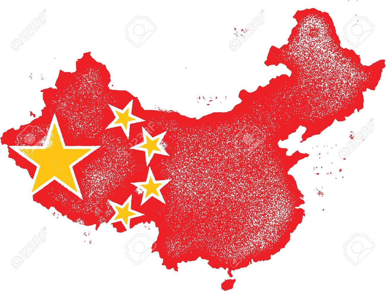china country grunge map with flag royalty free cliparts vectors