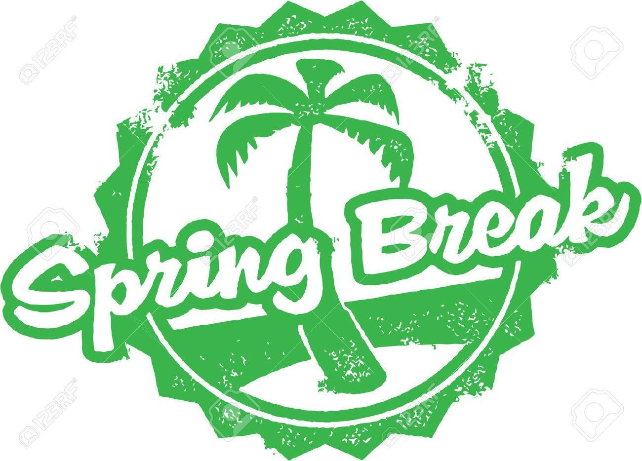 Spring Break Rubber Stamp - 25666694