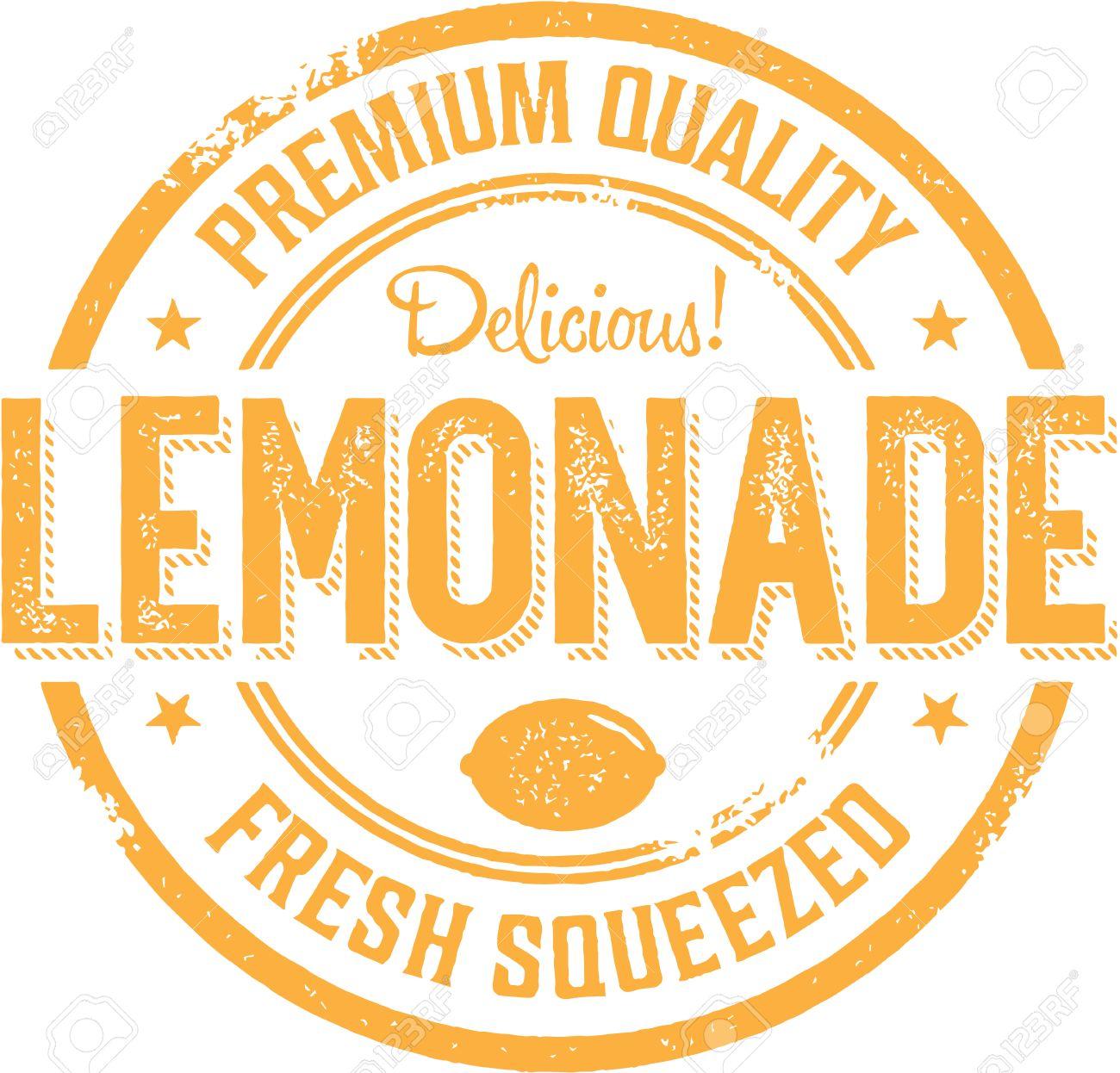 vintage style lemonade sign label royalty free cliparts vectors