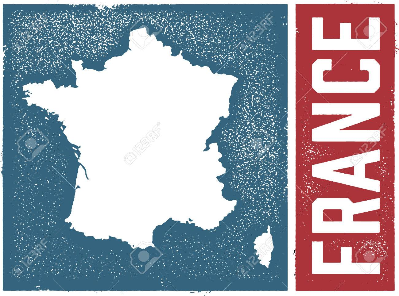 Country Map Of France.Vintage France Country Map Sign Royalty Free Cliparts Vectors And