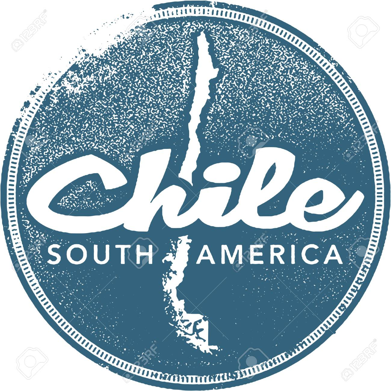 Chile South America Travel Stamp Stock Vector