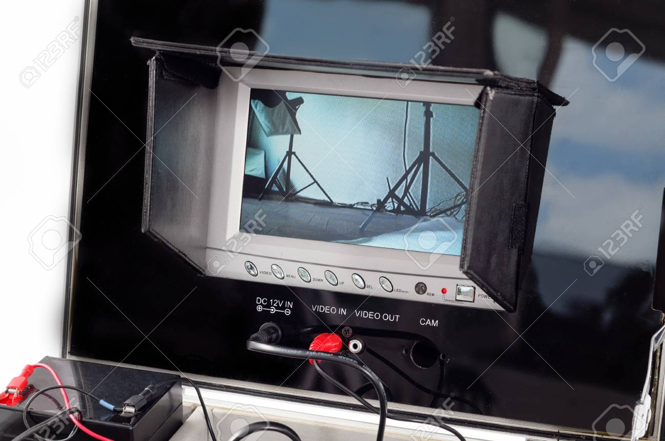 Video monitor in real time action Stock Photo - 25597833